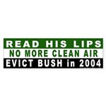 Read His Lips: Dirty Air Bumper Sticker