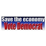 Vote Democrat for Economy Bumpersticker