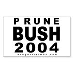 Prune Bush Bike Sticker (Rectangular)