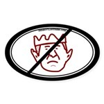 Down With King George Sticker (Oval)