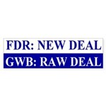 GWB: Raw Deal Bumper Sticker