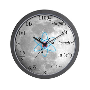 Sheldon Cooper Moon Maths Wall Clock | Gifts For A Geek | Geek T-Shirts