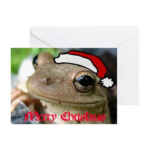 Christmas Frog Humor Greeting Cards Pk of 10 by CafePress