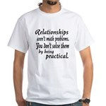 Castle Relationships Quote White T-Shirt