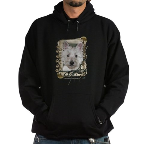 Product Image of Fathers Day Stone Paws Westie Hoodie (dark)
