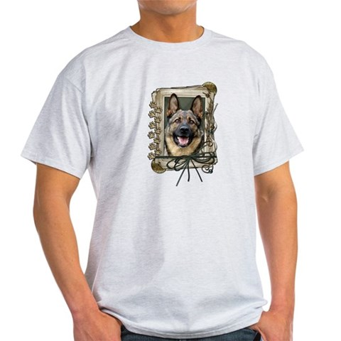 Product Image of Fathers Day Stone Paws Shepherd Light T-Shirt