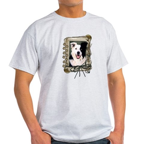Product Image of Fathers Day Stone Paws Border Collie Light T-Shirt