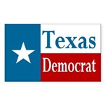 Texas Democrat Sticker (Rectangular)