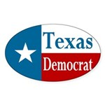 Texas Democrat Sticker (Oval)