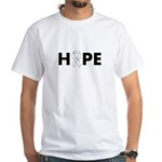 White Ribbon Hope White T-Shirt
