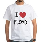 I heart Floyd White T-Shirt