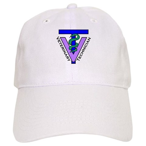 - Vet Tech Logo White or Khaki Vet Cap by CafePress