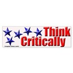 Think Critically Bumper Sticker