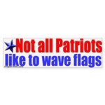 Patriots and Flags Bumper Sticker