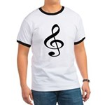 Music T-Shirt white - Black