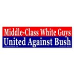 White Guys Against Bush Bumper Sticker