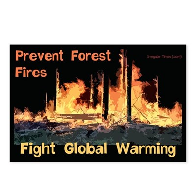Prevent Forest Fires Global Warming Postcards