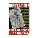 Bush's Empire 11x17 anti-war poster