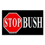 Stop Bush Sticker (Rectangular)