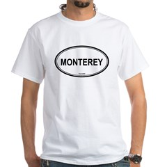 Monterey oval White T-Shirt