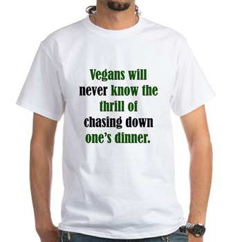Anti-Vegetarian White T-Shirt