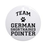 Team German Shorthaired Pointer Ornament
