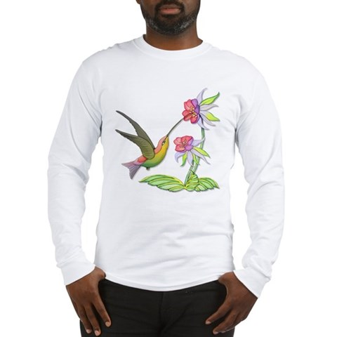 Hummingbird Flight  Art Long Sleeve T-Shirt by CafePress