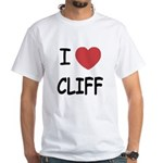 I heart CLIFF White T-Shirt