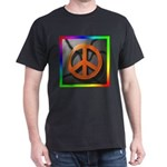 Peace Sign on Concrete Black T-Shirt