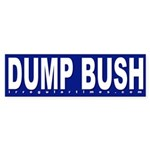 Dump Bush Blue Bumper Sticker