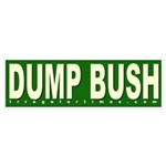 Dump Bush Green Bumper Sticker