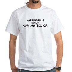 San Mateo - Happiness White T-Shirt