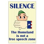 Homeland Insecurity Silence Large Poster