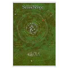 Stonehenge Map Poster and Canvas Print