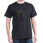 Heart tree with birds and tandem bicycle T-Shirt