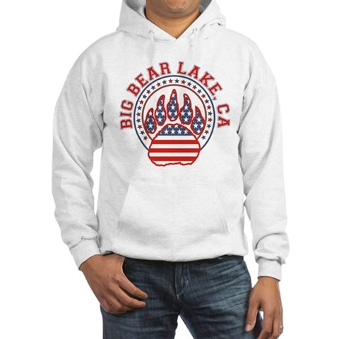 BIG BEAR LAKE Paw Hooded Sweatshirt by CafePress
