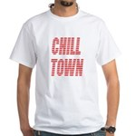 Chill Town (Red) White T-Shirt