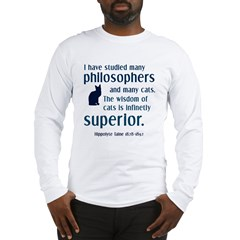 wisdom of cats philosophy Long Sleeve T-Shirt