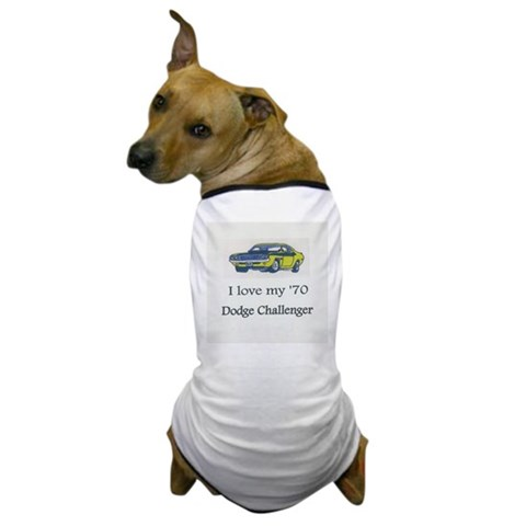 1970 Challenger  Cool Dog T-Shirt by CafePress