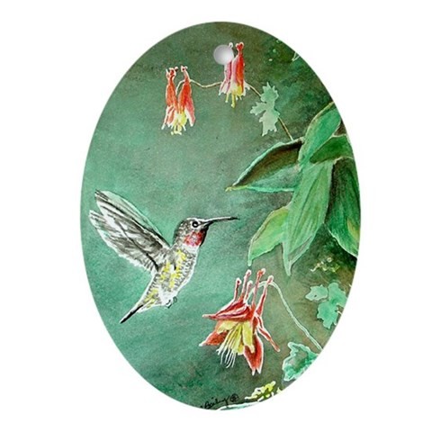 Hummingbird  Nature Oval Ornament by CafePress