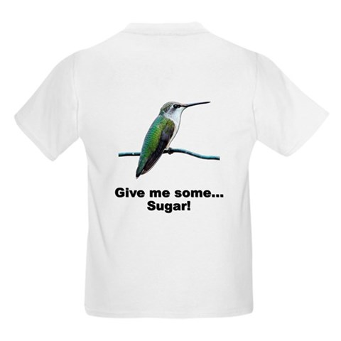 Hummingbird Sugar Kids T-Shirt Funny Kids Light T-Shirt by CafePress