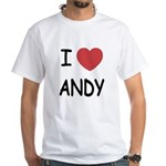 I heart ANDY White T-Shirt