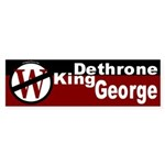 Dethrone King George Bumper Sticker