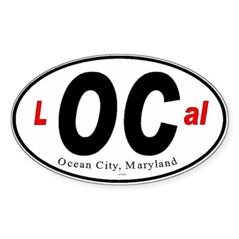 , Maryland Ocean Oval Sticker by CafePress