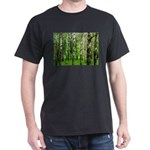 Forest view with birch trees spring summer T-Shirt