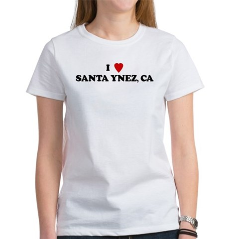 I Love SANTA YNEZ Love Women's T-Shirt by CafePress