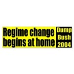 Regime Change yellow/black bumpersticker