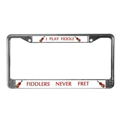 Fiddle License Plate Frame