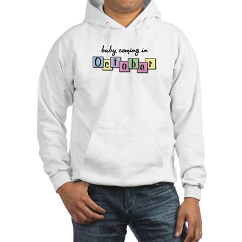 Baby Coming in October Baby girl Hooded Sweatshirt by CafePress