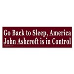 Go Back to Sleep Bumper Sticker